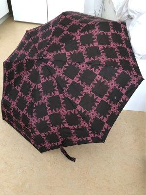 Pierre Cardin Paraguas plegable marrón-negro-rojo frambuesa