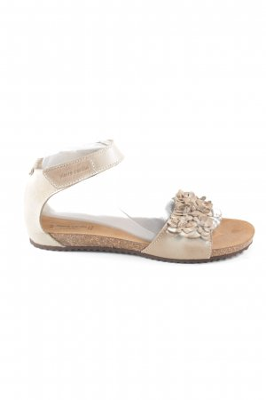 Pierre Cardin Strapped Sandals natural white flower pattern casual look