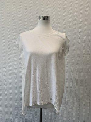 Pierre Cardin Blusa transparente blanco-blanco puro tejido mezclado