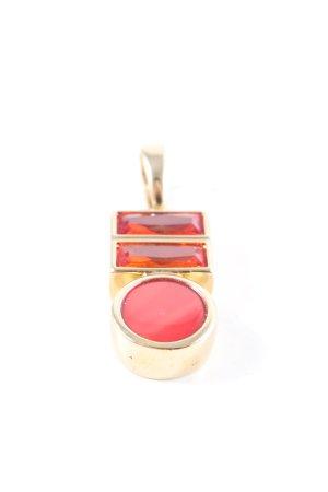 Pierre Lang Anhänger goldfarben-rot Casual-Look