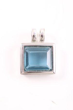 Pierre Lang Pendentif argenté-bleu style d'affaires