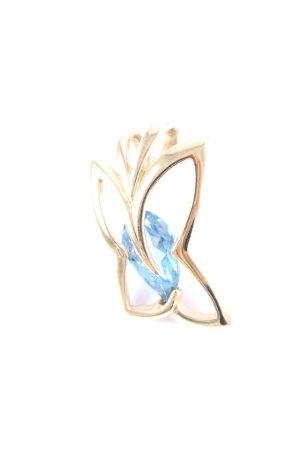 Pierre Lang Anhänger goldfarben-blau Elegant