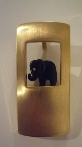 Pierre Lang Anhänger matt vergoldet mit Elefant