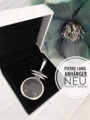 Pierre lang Anhänger Silber grau Stein Schmuck jewelry Accessoires Kette blogger vintage achat