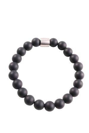 Pierre Lang Armband schwarz-silberfarben Casual-Look