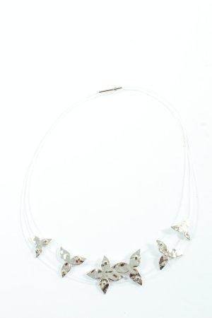 Pierre Lang Collier weiß-silberfarben Elegant