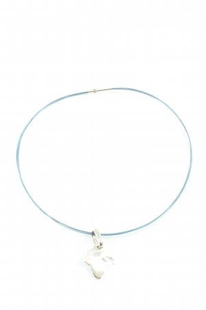 Pierre Lang Collier Necklace blue-silver-colored casual look