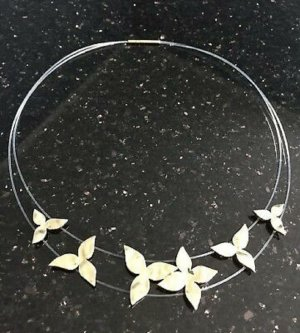 """Pierre Lang Collier """"Ivy"""" in Gold Neu"""