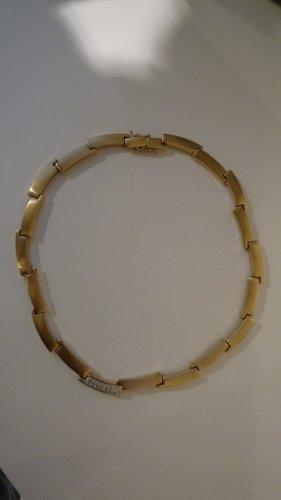 Pierre Lang Collier matt vergoldet m. Kristallsteinen