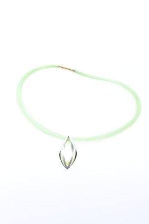 Pierre Lang Halskette silberfarben-grün Casual-Look