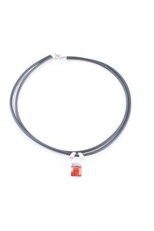 Pierre Lang Collar naranja claro-color plata brillante