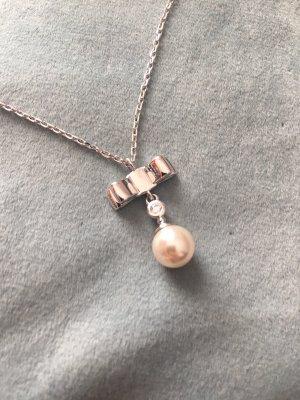 Pierre Lang Naszyjnik z perłami srebrny-biały