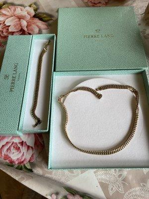 Pierre lang massive echt vergoldete Halskette Np 399€
