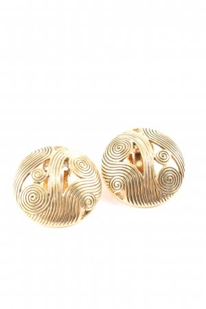 Pierre Lang Earclip gold-colored graphic pattern casual look