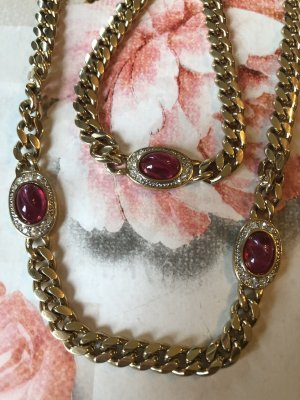 Pierre Lang Collier oro-rosso scuro