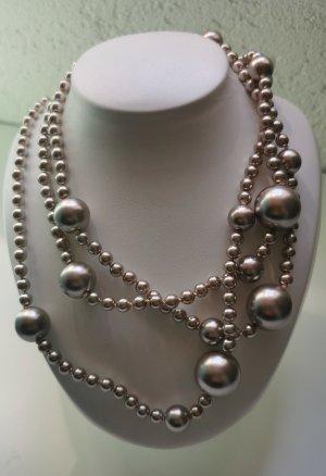 Pierre Lang Collana di perle beige