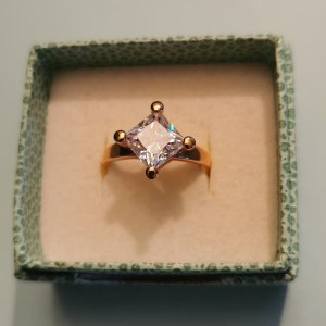 Pierre Lang Ring with Decorative Stone white-rose-gold-coloured