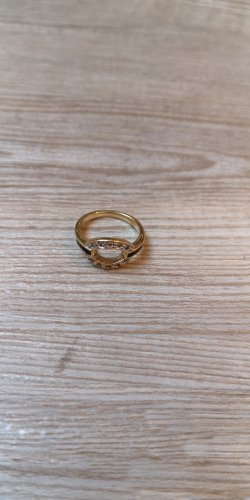 Pierre Lang Ring 17mm gold vergoldet Statement schwarz Zirkonia