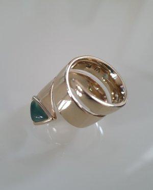 Pierre Lang Anello d'oro oro-verde-grigio