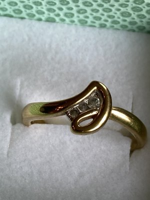 Pierre lang ring gr 17/55 echt vergoldet Np 129€