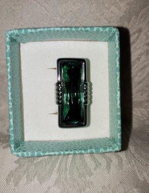 Pierre Lang Ring Noblesse Größe 7 rhodiniert grün rh/sm