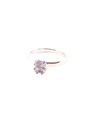 Pierre Lang Srebrny pierścionek srebrny-fiolet Elegancki