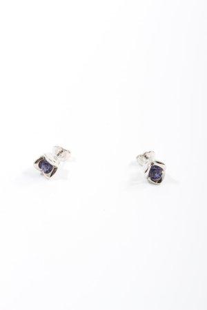 Pierre Lang Boucle d'oreille incrustée de pierres gris clair-violet