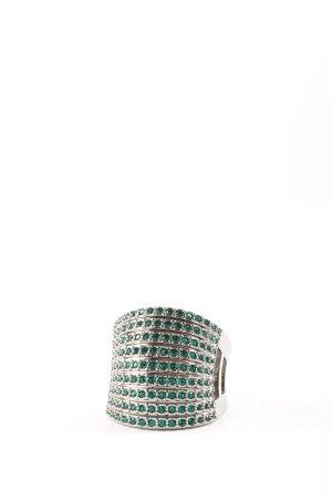 Pierre Lang Statementring silberfarben-grün Casual-Look