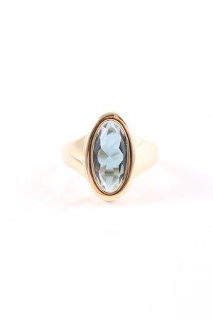 Pierre Lang Bague incrustée de pierres doré-bleu élégant