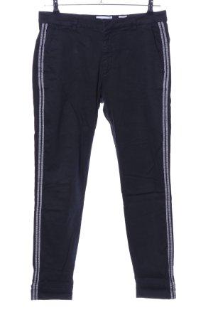 Pieszak Pantalone peg-top nero-grigio chiaro motivo a righe stile casual