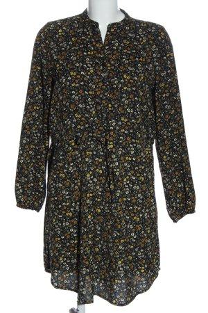 Pigalle Blusenkleid schwarz-braun Allover-Druck Elegant