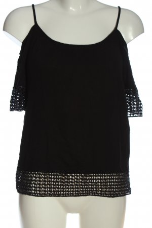 Pigalle Camisa tipo Carmen negro look casual