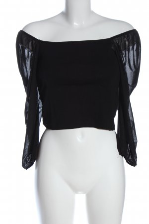 Pigalle Cropped Shirt black casual look