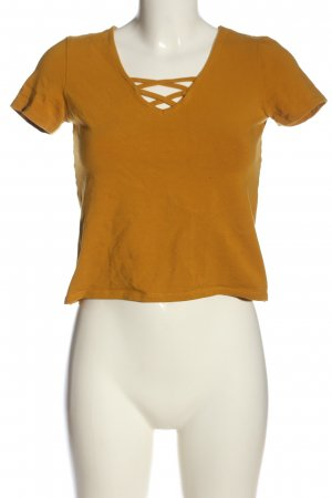 Pigalle Cropped Top light orange casual look