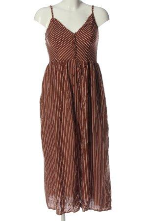 Pigalle Robe chemise brun-blanc motif rayé style décontracté