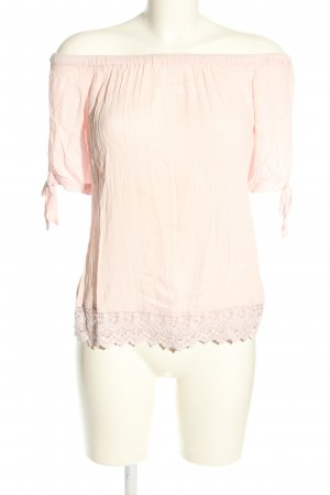 Pigalle Kurzarm-Bluse pink Casual-Look