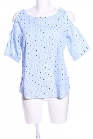 Pigalle Kurzarm-Bluse Punktemuster Casual-Look