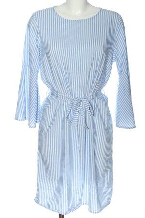 Pigalle Langarmkleid blau-weiß Allover-Druck Casual-Look