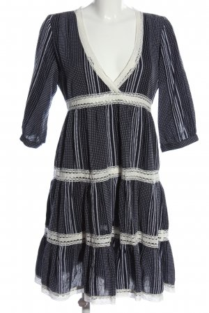 Pigalle Minikleid schwarz-weiß Allover-Druck Casual-Look