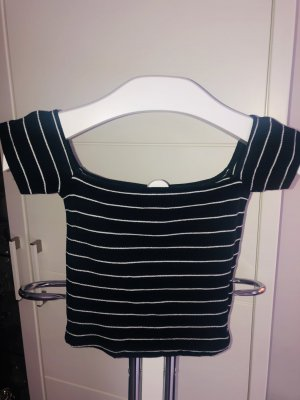 Pigalle Camisa de un solo hombro azul oscuro-blanco