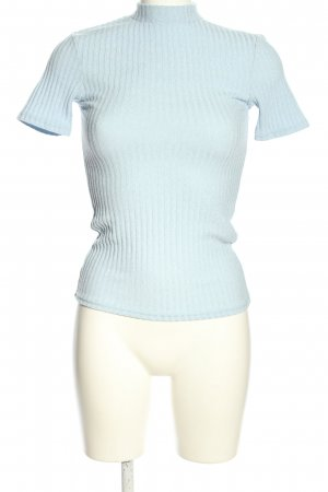 Pigalle Ribbed Shirt blue casual look
