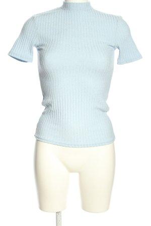Pigalle Geribd shirt blauw casual uitstraling
