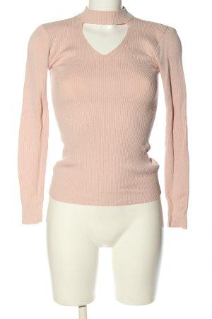 Pigalle Camisa acanalada crema look casual