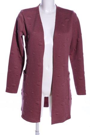 Pigalle Manteau en tricot rose motif de tache style décontracté