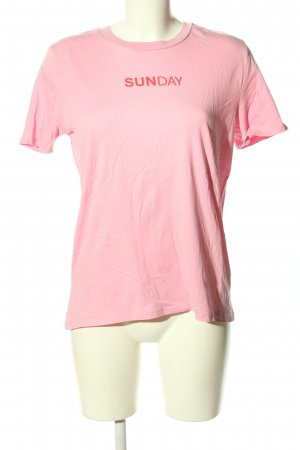 Pigalle T-Shirt pink Schriftzug gedruckt Casual-Look