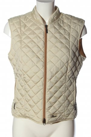 Pikeur Puchowa kamizelka kremowy Pikowany wzór W stylu casual