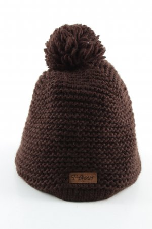 Pikeur Cappello con pon pon marrone stile casual