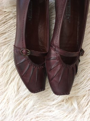 Pikolinos Strappy Ballerinas bordeaux leather