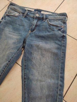 Pilcro Spodnie typu boyfriend ciemnoniebieski