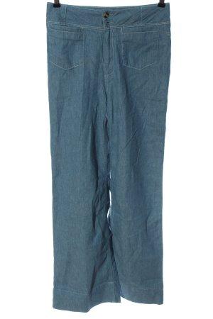 Pilcro Pantalon pattes d'éléphant bleu style décontracté